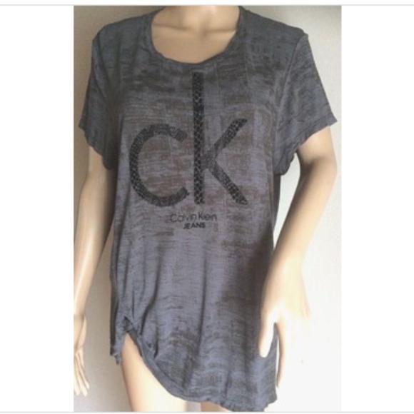 ff81458afb3 Calvin Klein Tops - Calvin Klein Tie Die T-shirt Blouse Side Tie